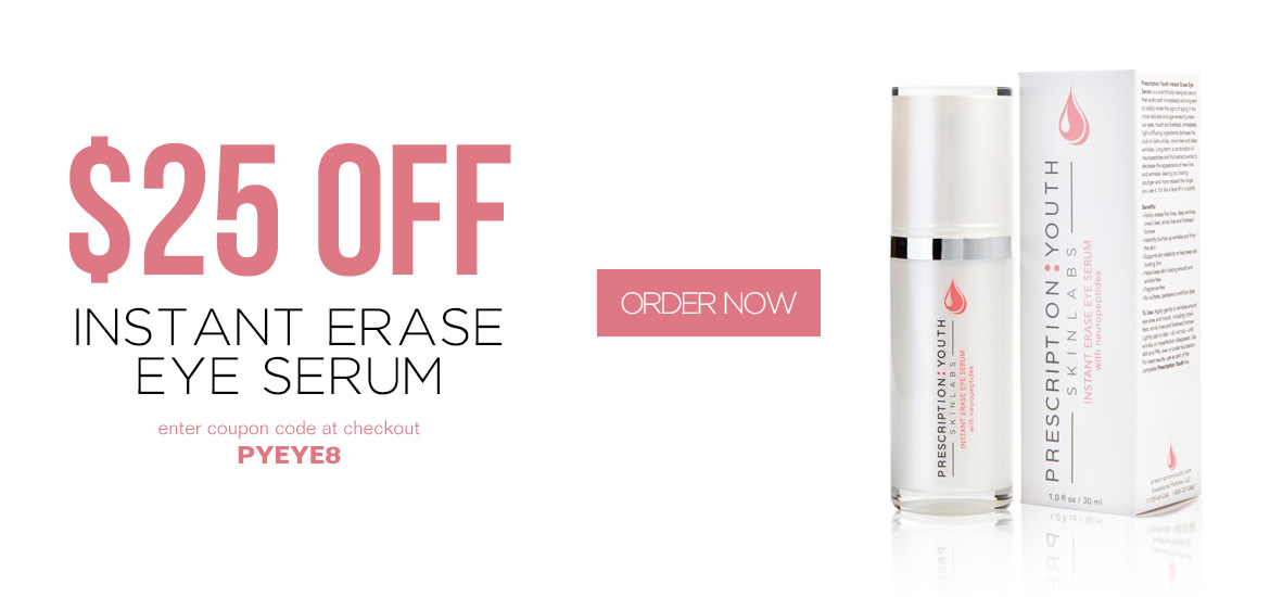 $25 OFF Instant Erase Eye Serum